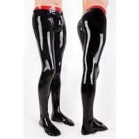 Latex Gummi Rubber Man Legging socks Latex Fetish Trousers Sexy Pants For Men Plus Size Customization 100% Natural Handmade