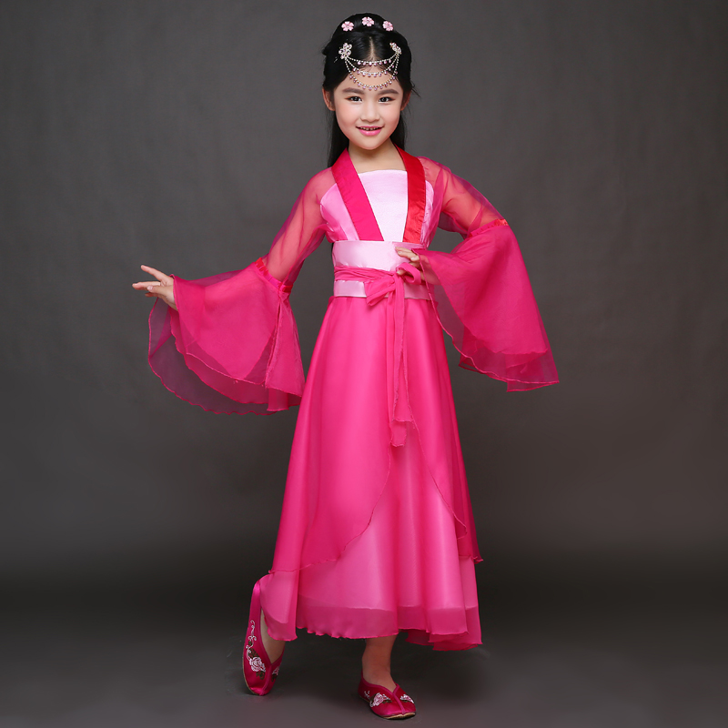 High Quality Child Dance Costumes Girl Chinese Ancient
