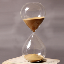 60 Minutes Timing Hourglass Height 24cm Creative Gift Glass Sand Timer Sandglass Golden Home Decoration reloj de arena