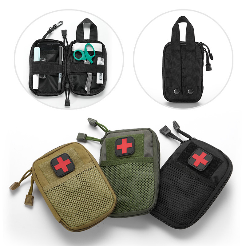 Portable Empty Tactical Medical Kit Molle Accessories First Aid Kit For Hiking Travel Home Car Emergency Treatment