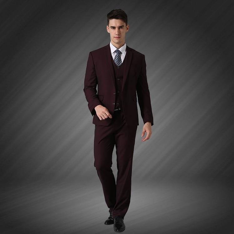 (Jope + vest + püksid) meeste äri ühe rinnaga peidetud peigmees - Meeste riided - Foto 4