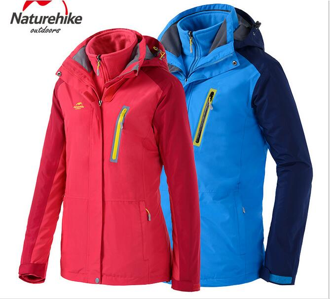 все цены на  Naturehike Outdoor jacket, windproof Fleece Jackets triple male and female couple autumn and winter  онлайн