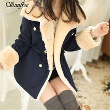 Sunfree 2016 New Hot Sale 1PC Winter Fashion Warm Double-Breasted Wool Blend Jacket Women Coat Brand New High Quality Nov 28
