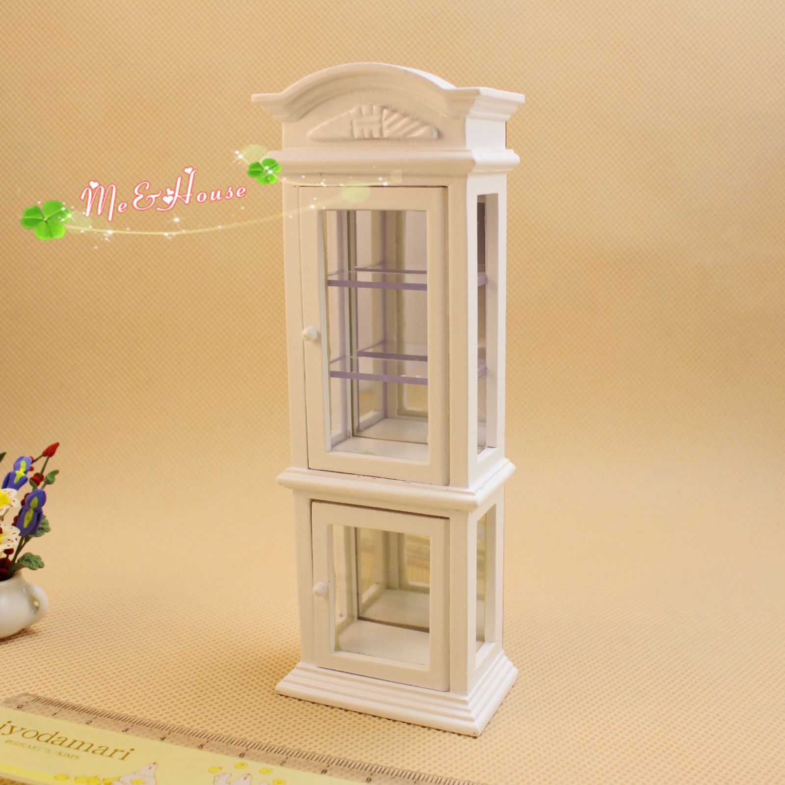Furniture With Free Shipping: 1/12 Scale Miniature Wine Cabinet Hutch Dollhouse