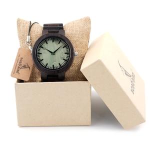 Image 5 - Bobobird c30 에보니 우드 시계 남성용 시계 브랜드 럭셔리 쿼츠 시계 선물 상자