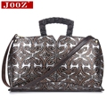 JOOZ retro style shoulder bag Genuine leather bags for women High capacity Carving patterns women Top-Handle Bags