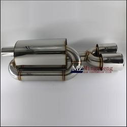 Akcesoria samochodowe S stylizacja tłumik rury wydechowej tłumik wydechowy ze stali nierdzewnej jeden z dwóch 89mm tylna rura wydechowa w Tłumiki od Samochody i motocykle na