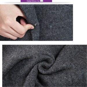 Image 5 - VogorSean Donna Autunno Inverno Cappotto Caldo Misto Lana Lungo Cappotto di Cachemire Femminile Cappotti Europeo Rivestimento di Modo Outwear Plus Size