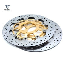 цена на CNC Motorcycle Front Floating Brake Discs Rotor & Rear Brake Disc Rotor For Honda CBR600 CBR 600 2007 2008 2009 2010 2011-2013