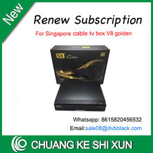 Renew starhub box V9 pro & V8 golden & V7 & V8 Angel stable for watching all Singapore starhub channels(China)