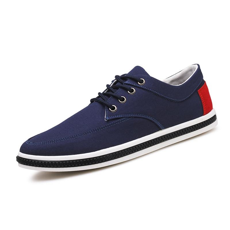 2017 mens Casual Shoes canvas shoes for men fashion Flats Lace up brand Spring Summer Zapatos de hombre