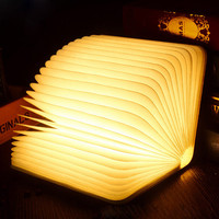 CHENGYILT Book Style Design Reading Light Fold LED Night Light 3.7V 2500mAh USB Rechargeable Page Desk Lamp Read Study Lamp