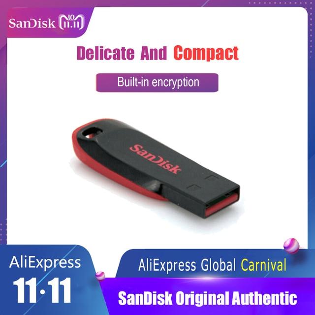 Sandisk CZ50 USB Flash Drive Encryption Mini Car USB Stick 8GB 16GB 32GB 64GB 128GB Memory Stick Pen Drives PenDrive