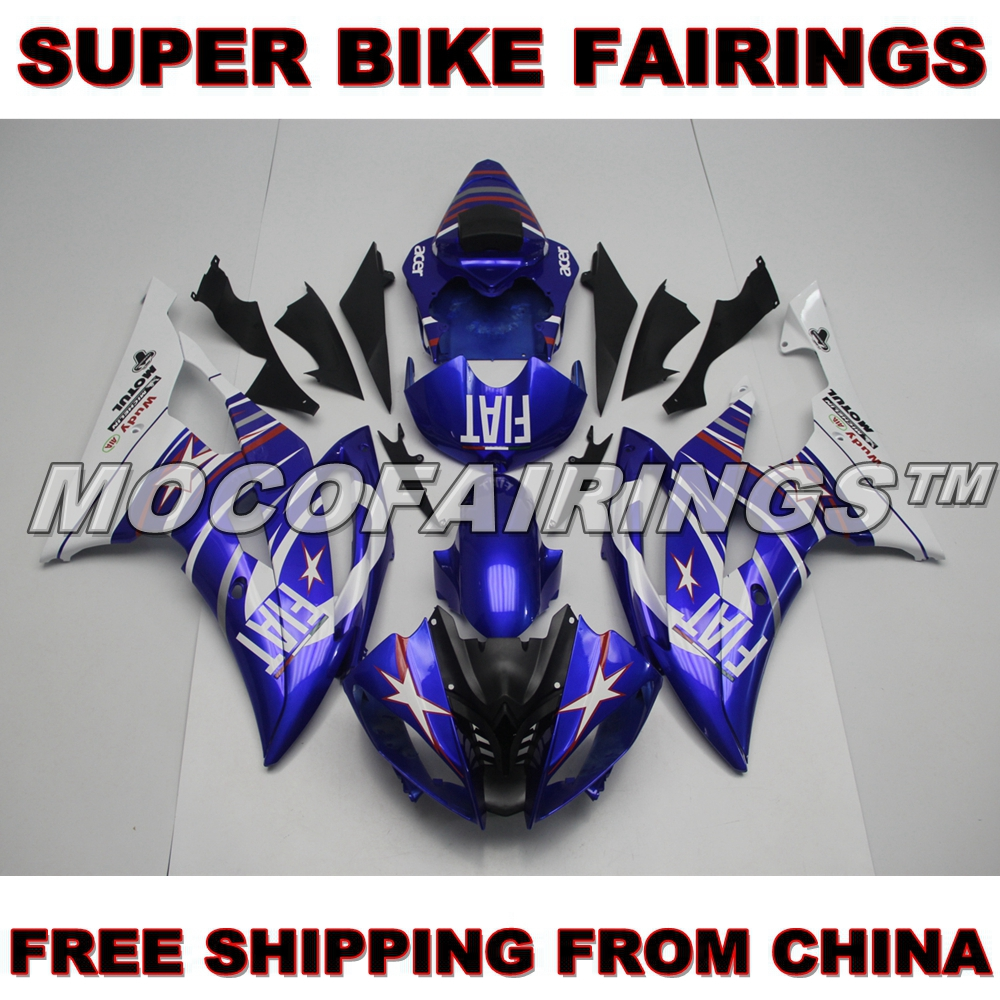 ABS Injection Plastics Full Fairings For Yamaha YZF R6 Year 2008 - 2014 09 10 11 12 13 Motorcycle Fairing Kit FIAT hot sales yzf600 r6 08 14 set for yamaha r6 fairing kit 2008 2014 red and white bodywork fairings injection molding