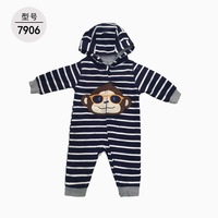 XINI MOMMY Unisex spring baby jumpsuit Striped baby kids onesie O Neck baby girl clothes Zipper baby fashion outflts ALI119