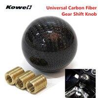KOWELL Carbon Fiber Universal Car Manual Transmission Gear Shift Knob Lever For Volkswagen VW Golf For