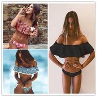 2017 Sexy Bandeau Bikinis Women Swimsuit Push Up Swimwear Brazilian Bikini Set Beach Bathing Suit