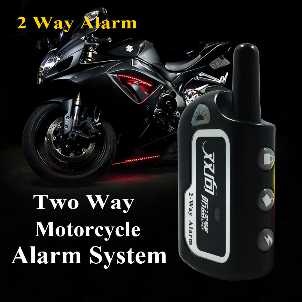 2 Way Motorcycle Alarm Security System Motorbike Scooter System Remote Engine Start Motorcycle Security Theft Protection System
