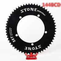 Stein 144 BCD kettenblatt fixed gear track fixie bike Runde einzelnen 42T 46T 48T 50T 52t 54 58t 60t berg MTB Kettenblatt 144bcd