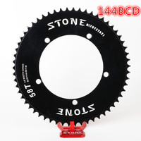 Stone 144 BCD chainring fixed gear track fixie bike Round single 42T 46T 48T 50T 52t 54 58t 60t mountain MTB Chainwheel 144bcd