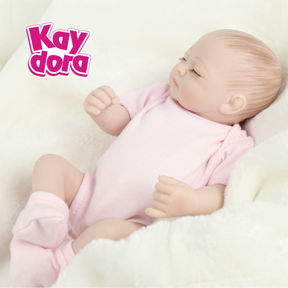 10 inch 28cm Full Silicone Reborn Baby Dolls Alive Lifelike Real Dolls Mini Realistic Bebe Reborn Babies Girl Toys Birthday Gift 1