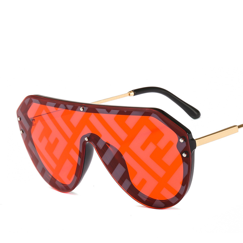 2019 New F Watermark One-piece Sunglasses PC Copy Film Men Women Sunglasses Girls Personality Colorful Fashion Wild Sun Glasse (30)