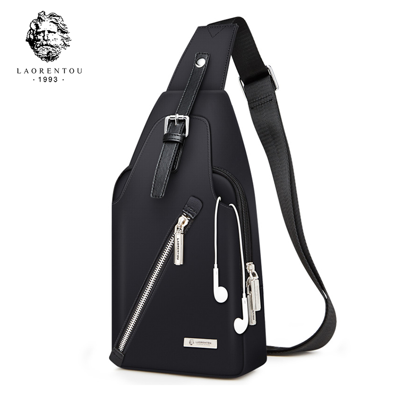 LAORENTOU Men Chest Bags Crossbody Bags Casual Shoulder Bag Men's Messenger Bag New Arrival