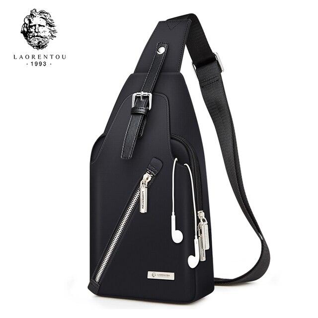 Laorentou Для мужчин груди Сумки через плечо Повседневное сумка Для мужчин сумка новое поступление