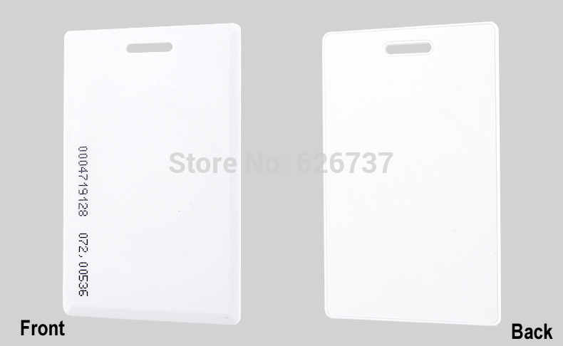 125khz RFID EM4100 Clamshell Card 1.8mm Thickness Proximity ID Card With 64 Bits For Door Access System Switch Power
