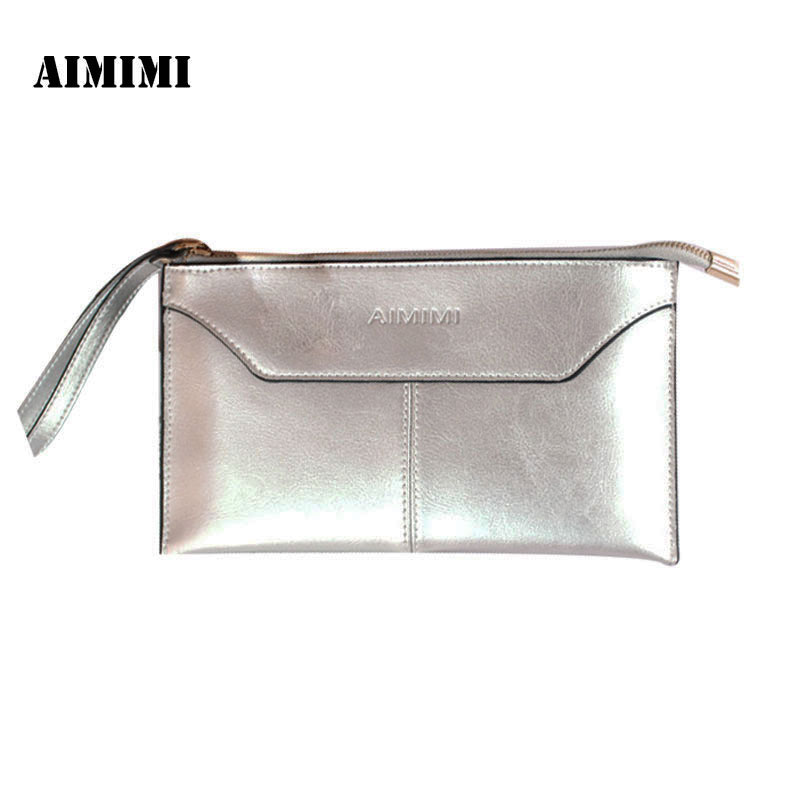 Aimimi Women Classic Simple Wallet Female Genuine Cow Leather Purse Wallet Phone Purse Clutch; Coin Pouch Carteira Case made in japan leather coin case purse pouch wallet 1312 navy