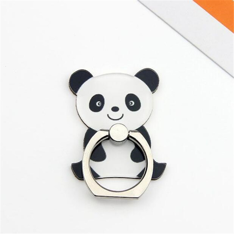 UVR Cartoon Cute Panda Finger Ring Smartphone Phone Stand Holder Mobile Phone Holder Stand For IPhone IPad Huawei All Phone