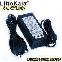 25.2 V 1A lithium battery pack charger 24V 1000mA output 100V 240V VAC lithium ion DC power supply 6 series battery power supply