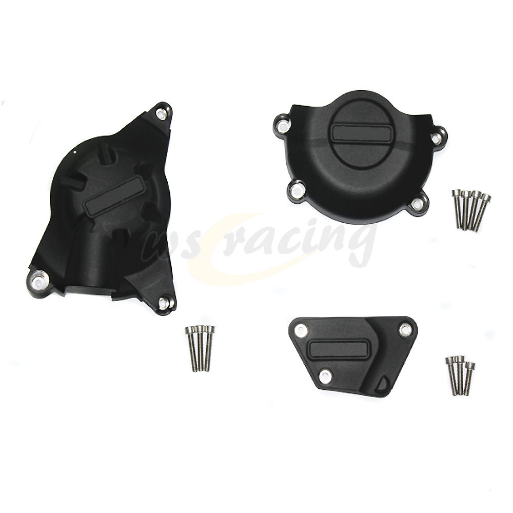 Motorcycle Black Engine Cover Protection Case Set Kit For YAMAHA YZF R6 YZF-R6 2006-2015 06 07 08 09 10 11 12 13 14 15 motorcycle engine case cover set engine cover kit protection fit cbr1000 2008 2015