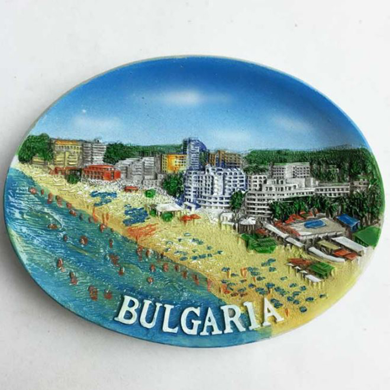 1 Pc New Holiday in Bulgaria Tourist Travel Souvenir Refrigerator Magnetic Sticker 3D Resin Decorative Fridge Magnet Craft GIFT