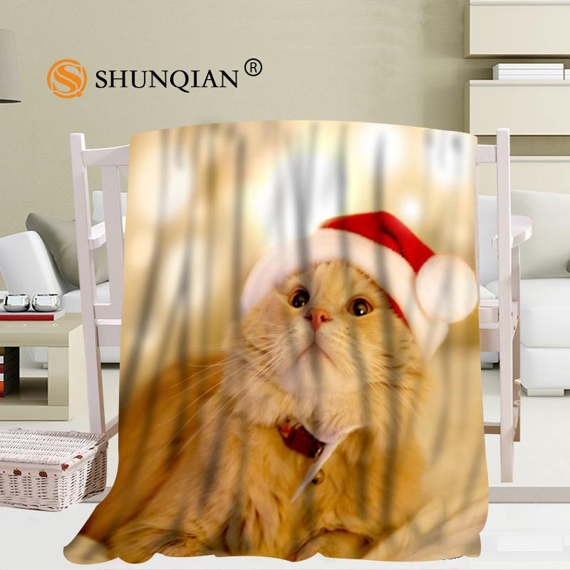 Merry Christmas Animals.Us 30 74 25 Off Jqk333j Custom Merry Christmas Animals Pattern Travel Blanket Home Tv Casual Relax For Family Soft Fluffy Warm Blanket In Blankets