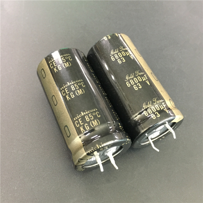 5pcs 6800uF 63V NICHICON KG series 25x50mm 63V6800uF Gold Tune HiFi Audio Capacitor-in Capacitors from Electronic Components & Supplies