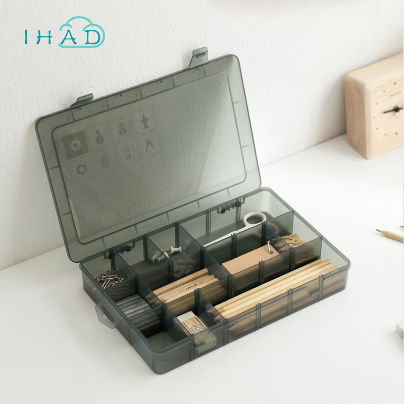 PP Removable storage box for tools cosmetic Nail toolbox case Screw finishing box Sub-grid Frequently used
