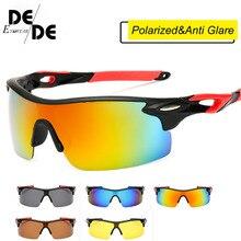 Men Driving Polarized Sunglasses Square Half Rimless Gradient Sun Glasses HD Lens Eyewears Goggles UV400 2019New