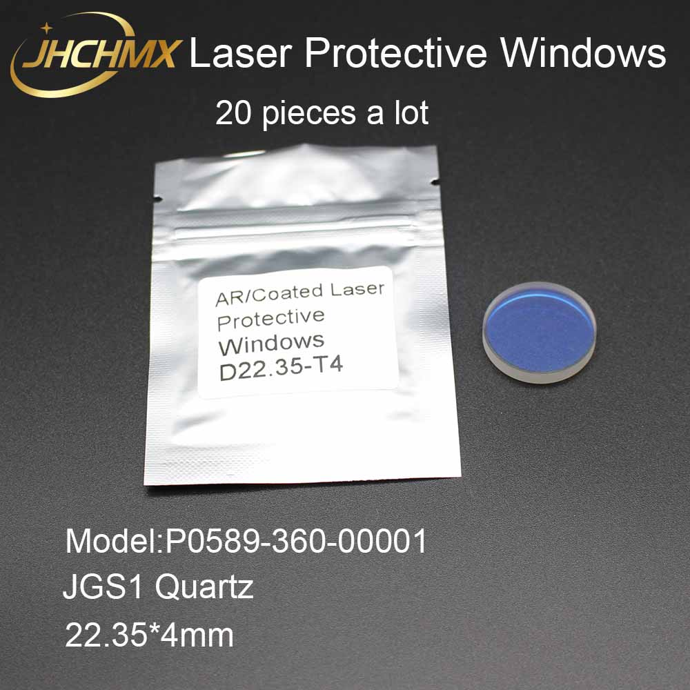 JHCHMX 20pcs Laser Protective Windows 0 2000W 22.35*4mm P0589 360 00001 For Precitec Han's Prima IPG Fiber Laser Cutting Machine-in Lenses from Tools    1