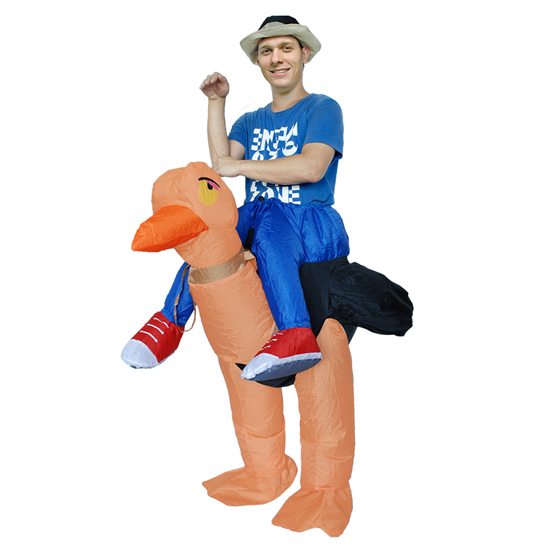 Riding Ostrich Fantasy Inflatable Suit Halloween Funny Carnival Party Costume