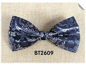 Мода кешью цветы Классический Боути для человека галстуки Регулируемая свадьба лук Галстуки полиэстер человека Bowties - Цвет: BT2609