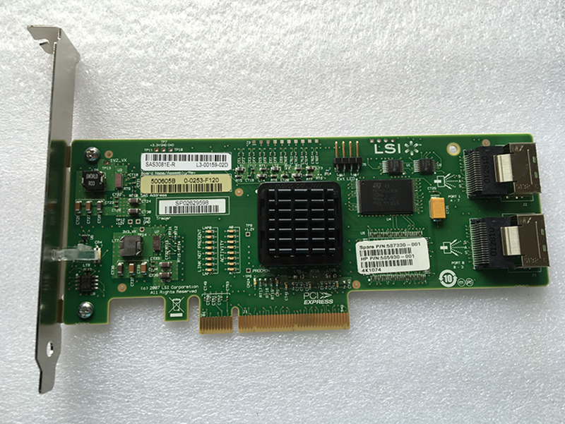 lsi avago sas 3081e r - RaidStorage Avago LSI SAS 3081E-R LSISAS1068E B3 8 port HBA JBOD SFF8087 MiniSAS 3Gb PCI-E X8 Controller Card