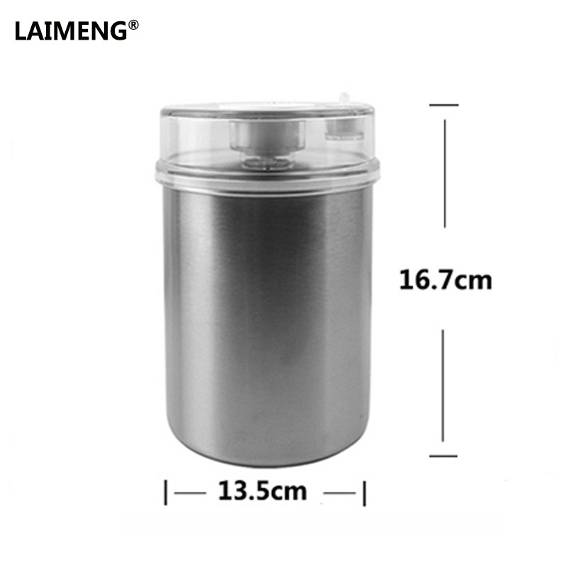 Laimeng 1300ML Vacuum Containers Stainless for Keeping Food Wine Soup Fresh with Vacuum Sealer Machine greenco mini food storage containers condiment and sauce containers baby food storage and lunch boxes leak resistant 2 3 oz each round containers set of 20
