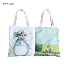 Cartoon Totoro Printed Shoulder Bag Women Large Capacity Fem