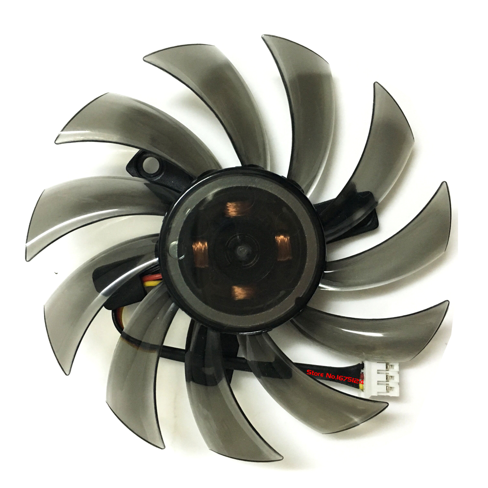 T128010SM 0.2A 3Pin 75mm VGA Cooler <font><b>Graphics</b></font> <font><b>Card</b></font> Fan For GIGABYTE <font><b>GTX</b></font> <font><b>460</b></font> 470 580 image