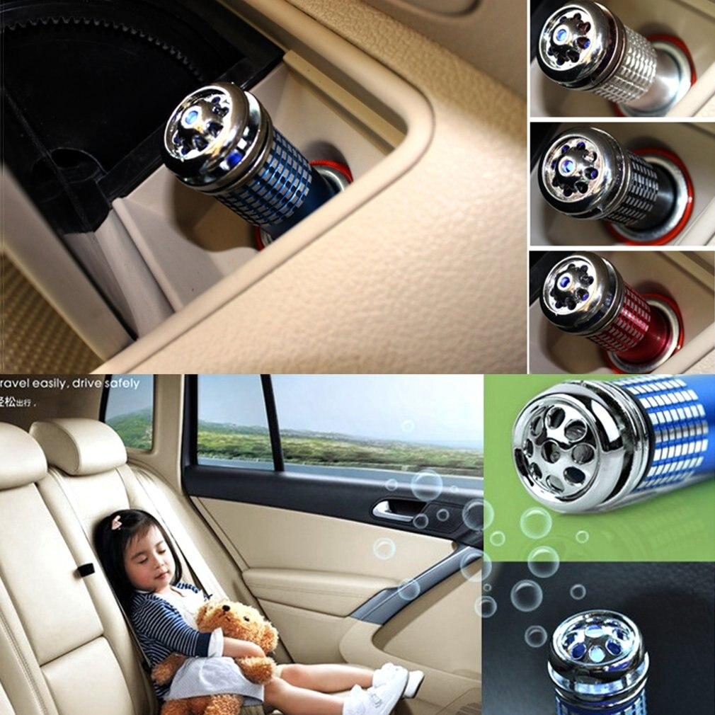 12V Car Air Purifier Universal Mini Auto Car Fresh Air Anion Ionic Purifier Oxygen Bar Ozone Ionizer Cleaner Air Humidifier
