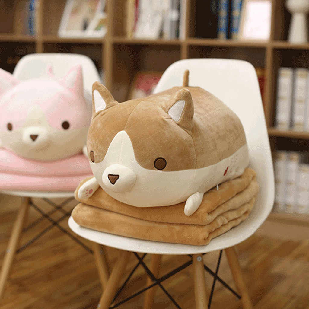 Милая аниме плюшевая игрушка набивная собака корги мягкая подушка с животными прекрасный мультфильм собачка игрушка подарок для детей подарки ко дню Валентина 2019 D1