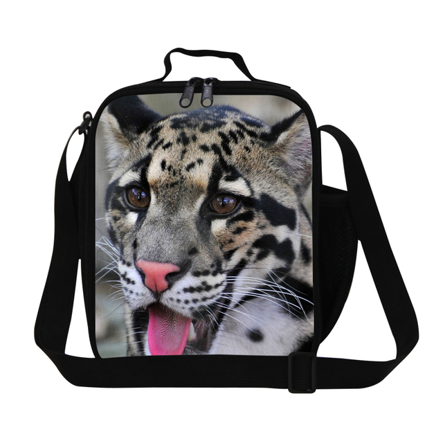 New Fashion Insulated Lunch Bag For School Students Cool Leopard 3d Print Men S Animal Box