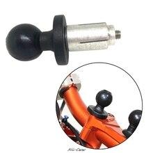 Aluminium Basis Gummi Motorrad Bike Mount Schwarz Gabel Stem Basis mit Ball Kopf für RAM Mount für Gopro Ball Montieren adapter