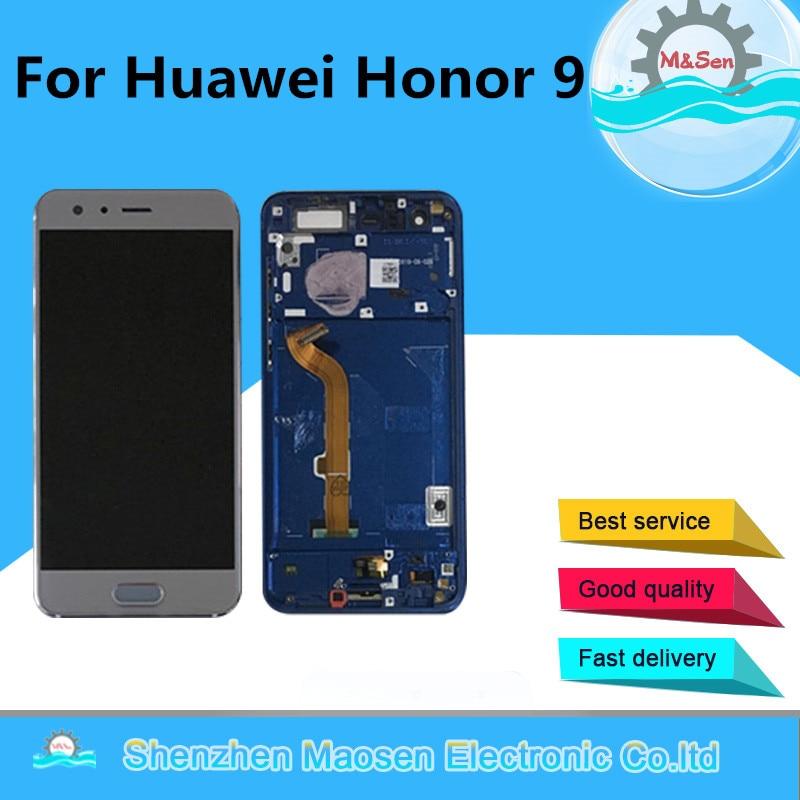 Оригинальный М & Sen для 5,15 huawei Honor 9 STF-L09 STF-AL10 STF-AL00 STF-TL10 ЖК Экран Дисплей + Touch Панель планшета с рамкой